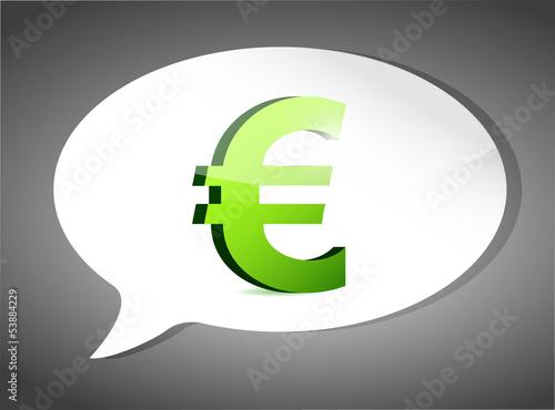 euro On Speech Bubble illustration design