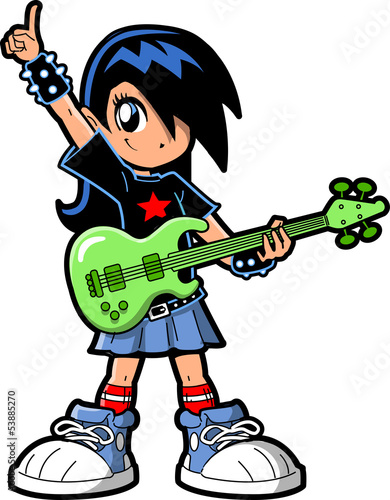 Anime Manga Girl Rock Star