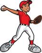 Ethnic Baseball Pitcher