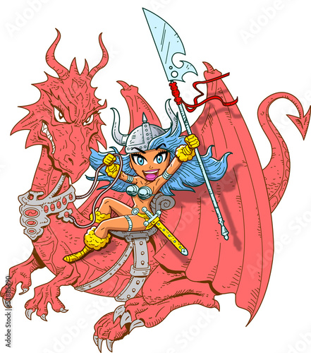 Girl Dragon Rider