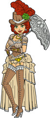 Pretty Steampunk With Parasol