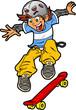 Skateboarder Doing Trick