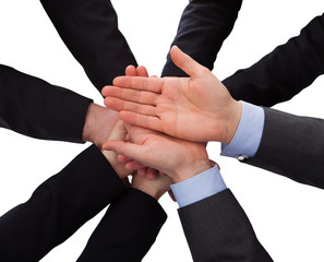 Group Of Businesspeople Hands