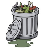 Vector illustration of Trash can