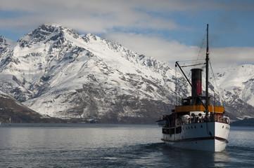 The steamship on Lake Wakatipu.