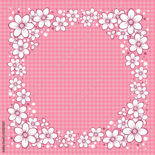 Striped Greeting Card with Flowers