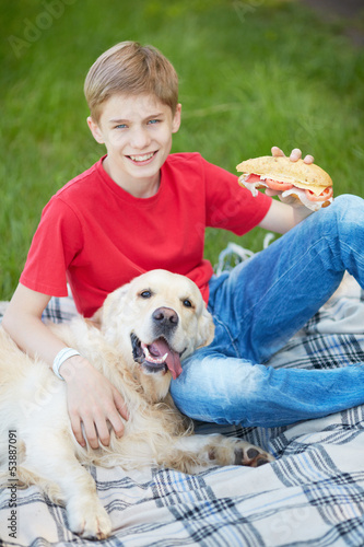 Leisure with dog