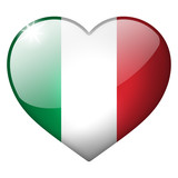 italy heart button