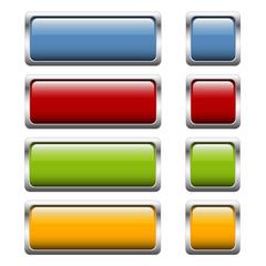 Button Sammlung 4-farbig