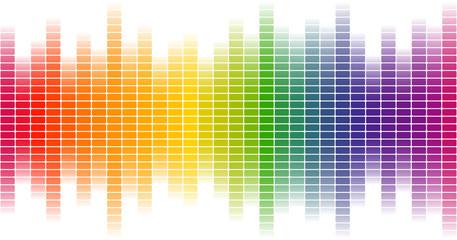 Digital Equalizer Hintergrund bunt - endlos