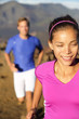 Happy healthy lifestyle running people