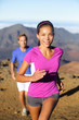 Trail running woman runner healthy lifestyle