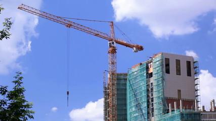 Crane and construction site 1
