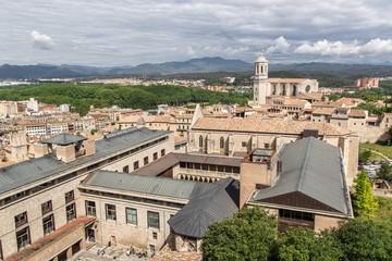 Veduta di Girona, Spagna