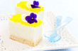 Mini lemon and vanilla cake, selective focus