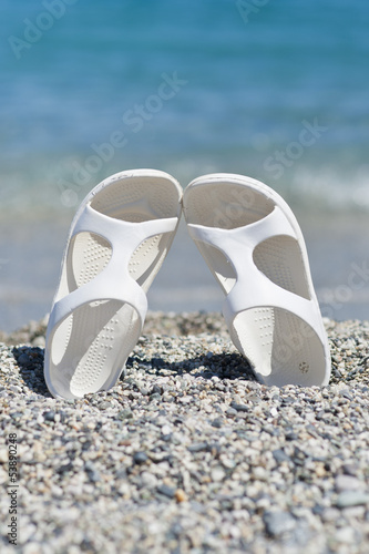 White Sandals on the Beach