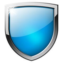 blue shield button