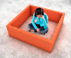 Wall around a girl