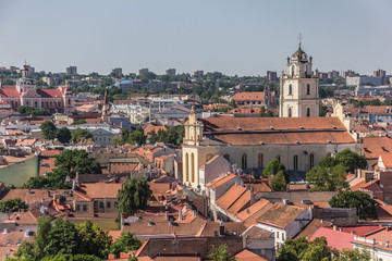 View over Vilnius old town