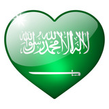 Saudi arabia heart button
