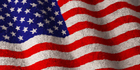 American Flag - Fluffy Flag