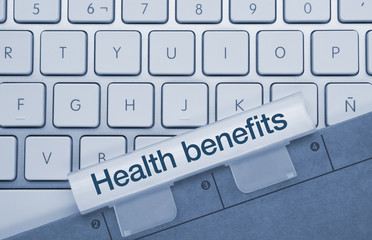 Health benefits keyboard key