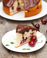Cherry fruits cake