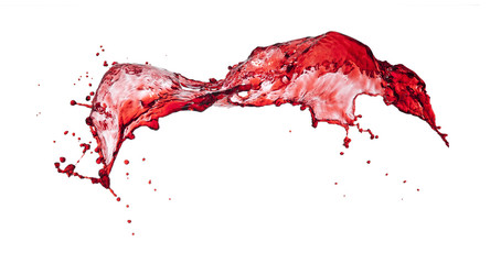 splashes of red transparent liquid