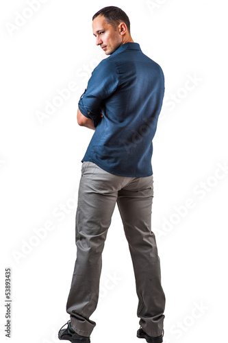 Handsome man on white background