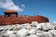 Sank boat in Inisheer, Aran Islands