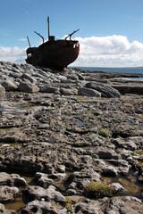 Shipwreck boat in Inisheer, Aran Islands