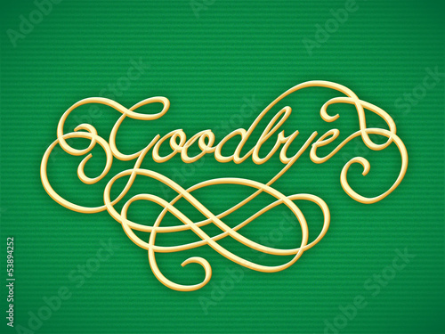 """""""GOODBYE"""" Card (farewell good luck retirement day see you soon)"""