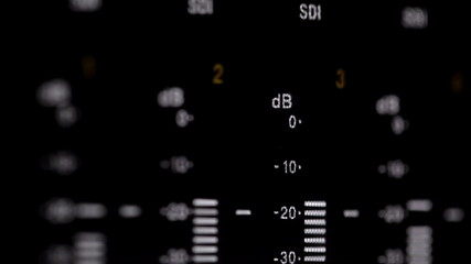 Sound indicators on the professional video recorder 1