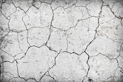 Dry cracked ground during drought