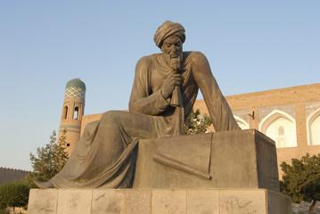 The Al-Khorezmi Muhammad ibn Musa Khuwarizmi Monument in Khiva