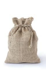 small burlap sack