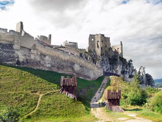 Massive fortification of The Castle of Beckov