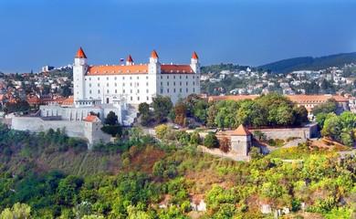 Bratislava Castle in new white paint