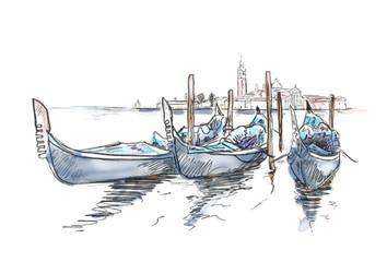 Venedig Skizze