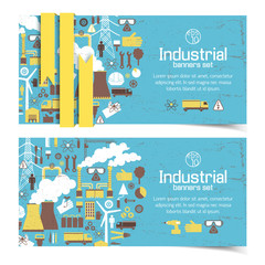 Industrial banners set