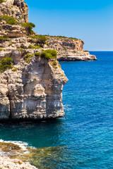 Mediterranean sea and rocky coast of Spain Mallorca island