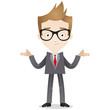 Businessman, shrugging, shoulders, unsure