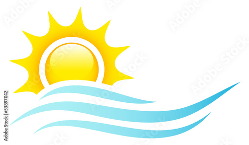 Sun, Ocean & Waves Logo