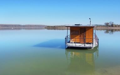 Houseboat at Orava reservoir (Oravska Priehrada)