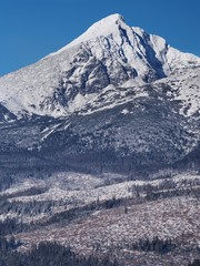 Krivan Peak in Slovak High Tatras at winter