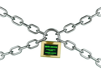 Information security concept - isolated on white