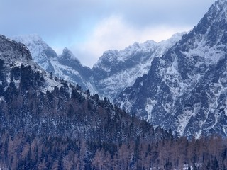 Dramatic weather over peaks of High Tatras