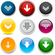 Round color download icons.
