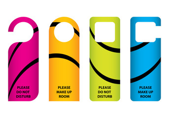 hotel do not disturb door hanger with special design