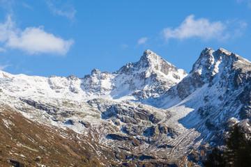 Mountain peaks in the alp